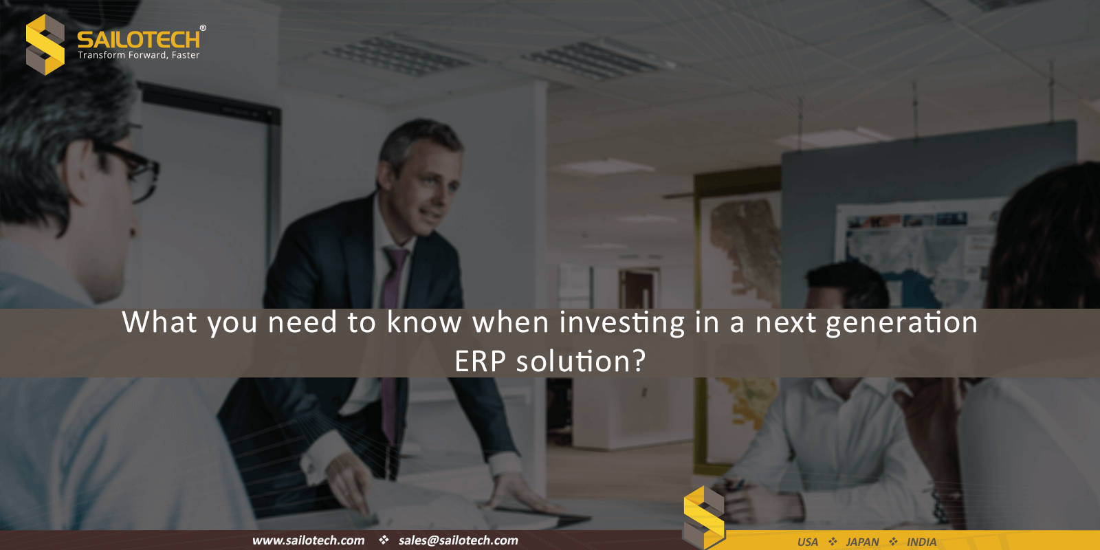 What you need to know when investing in a next generation ERP solution?